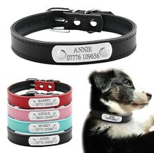 Pet Personalised Leather Collar - Puppy + Small Cat - Name/Number Engraved