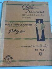 1939 Accordion Music Book World Famous Waltzes Pietro Deiro No 7824