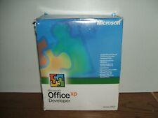 Microsoft Office XP Developer 2002 BIG BOX! 7 CD-ROM w Product Keys Manuals