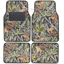 Camouflage Car Floor Mats Set - 4pc Camo No-Slip Rubber Backing