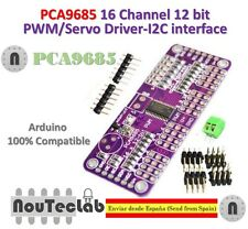 PCA9685 16 Channel 12 bit PWM Servo Driver I2C Interface for Arduino