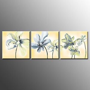 FRAMED Canvas print Poster Flower Paintings Wall Art For Home Room Decor-3pcs