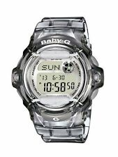 Casio Baby-g Ladies Telememo 25 Grey Digital Watch Bg-169r-8er