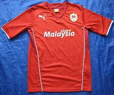 Cardiff City Camiseta Jersey Puma 2013-2014 Gales los Azulejos/Adulto/Rojo/Tamaño S