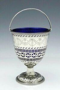 English Silver HESTER BATEMAN Sterling Sugar Basket with Liner c1784