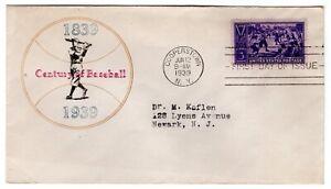 #855 Baseball First Day Cover 1939 Mellone #103 CV$750