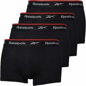 Reebok 4-Pack Sports Performance Men's Boxer Trunks, Black
