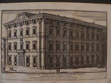 M Roma Palazzo d'Aste Rinuccini Bonaparte acquaforte Specchi 1700 barocco