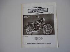 advertising Pubblicità 1972 AERMACCHI HARLEY DAVIDSON 125 DE LUXE