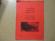 Taarup 9035 9039 9043 hay tedder owners & maintenance manual