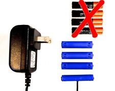 AAA Battery Eliminator Power Adapter 6 V Replace 4 AAA batts w/AC wall current