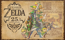 "the legend of zelda 25th anniversary  Game Fabric poster 40"" x 24"" Decor 137"