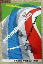 Lotteria di Monza 1957 - 500 Miglia Monza  window card by Max Huber