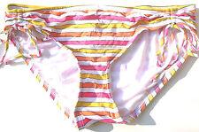 Material Girl NEW Pink Women's Juniors Size S Small 2 4 Bikini Bottom $42 S304
