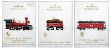 2012 Hallmark Lionel Nutcracker Route Christmas Train 3 Ornament Set!
