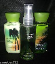 Bath & Body Works Coconut Lime Breeze Fine Fragrance Mist Lotion Shower Gel Wash