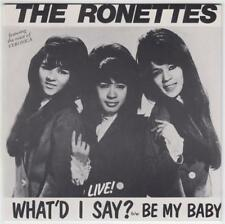 THE RONETTES - BE MY BABY / WHAT'D I SAY LIVE!!! (RAVEN 03) AUSTRALIAN KILLER!!!