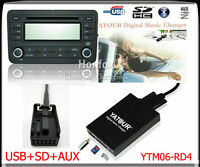 Yatour Digital CD changer for Peugeot Citroen RD4 RT3 Can-bus Aux SD USB Adapter