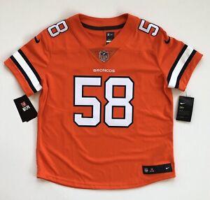 Women's Large Von Miller Denver Broncos Nike Color Rush Orange Limited Jersey