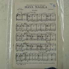 combo / dance band parts HAVA NAGILA / POLLY WOLLY DOODLE arr bill owen