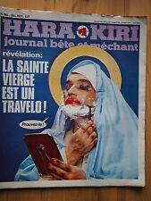 HARA KIRI 195 La Sainte Vierge est un Travelo Wolinski / Travesti Transsexuel