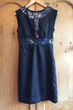 Monsoon Sleeveless Shift Dress with Sparkle - 10
