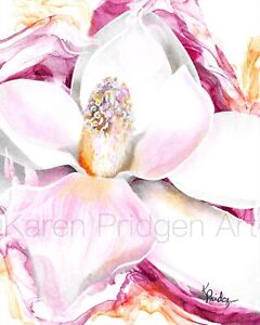 "ACEO ATC Artist Trading Cards Fine Art Print + Multiple Sizes Magnolia ""Rarity"""