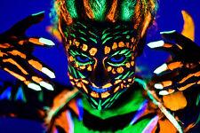 Schwarzlicht Bodypaint UV Schminke Neon Körpermalfarbe Fluoreszierend Set 5x25ml