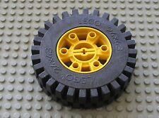 Roue LEGO TECHNIC Yellow Wheel 24 x 43 Ref 3739 + Tyre 3740 Set 8862 Backhoe