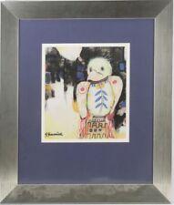 """Aquarell / Bild """"Vogel"""",hinter Glas gerahmt,signiert Gerard Grassere   /#109"""