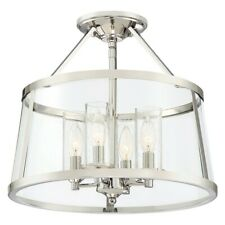 Quoizel 16 inch Barlow Semi-Flush Mount, Polished Nickel - BAW1716PK