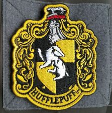 Harry Potter House Hufflepuff Morale Badge 3D U.S. Embroidered Hook Patch #03