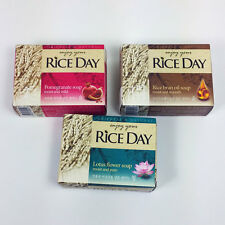 Soap 4 Bars Rice bar soap Korea CJ LION moist and pure Rice day