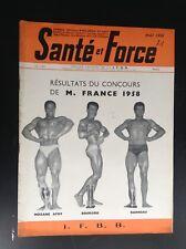 Rare revue Santé et force N° 123 1958 TBE Musculation Culturisme