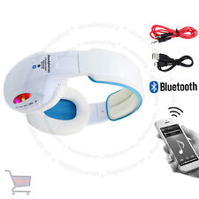 LED Wireless Bluetooth 4.2 White Headphone Stereo Music Headset Super Bass UKES