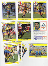 Merlin Rugby League Collection 1991 Full Team Set of Warrington Cards freepost