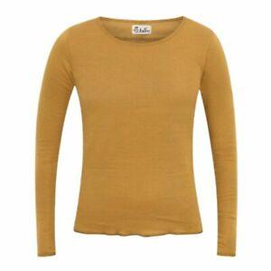 Jalfe Longsleeve Curry-light Brown Ringel, 100% Baumwolle, Größe XS, S, M, L, XL