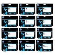 12 x Tinte HP 70 DesignJet Z3100 Z3200 / C9448A C9449A C9451A C9453A -C9459A INK