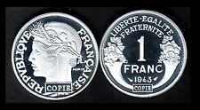 ★★★ JOLIE COPIE DE L'INTROUVABLE 1 FRANC 1943 GRAZIANI ALUMINIUM ★★ NEUVE FDC