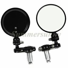 "Universal 3""CNC Black 2 Adjustable Round Motorcycle Scooter ATV dirt bike mirror"