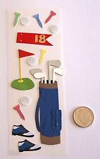 No 438 Scrapbooking - 14 Small to Medium Golf Stickers