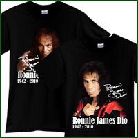RONNIE JAMES DIO Rock Band Tribute Song CD Music Black T-Shirt TShirt Tee