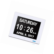 Digital Calendar Clock With Large Clear Time Day and Date Display Wall Hanging