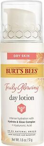 Burt's Bees Truly Glowing Day Lotion Face Cream 1.8 oz.