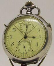 Breguet Observatoriums Chronometer Taschenuhr Rattrapante  0,800 Silber 1890