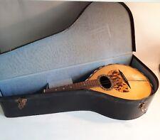 Antique 1920s Flat-Backed Mandolin by Carlo Ricordo, Napoli. Original Case. A/F