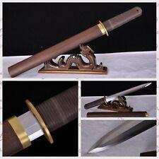 20Inch Hand Forge Sharp Chinese Sword Dagger Knife Pattern Steel Katana