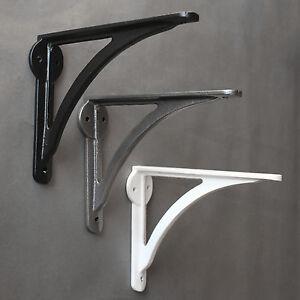 "7x5"" ANTIQUE CAST IRON IRONBRIDGE SHELF CISTERN BRACKET BLACK WHITE PEWTER BR08"