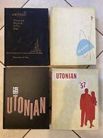1954 - 1957 University Of Utah Utonian Yearbooks Lot of 4 Good Inside Rare