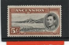 Ascension GV1 1938-53 5s black & yellow brown sg 46 H.Mint